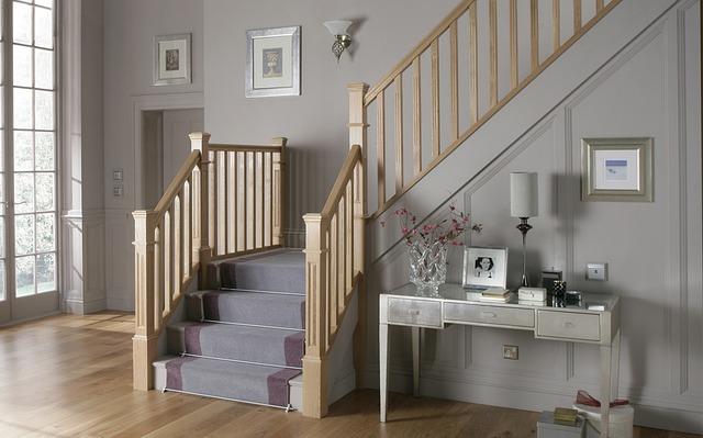 Stairs that required vacuuming regulary