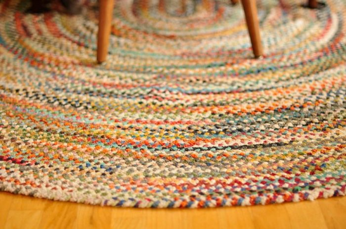 how to clean a braided rug